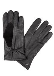 J. Lindeberg Milo Black Leather Gloves