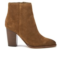 Sam Edelman Women's Blake Suede Heeled Ankle Boots Woodland Brown