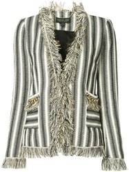 Rachel Zoe Frill Trim Jacket Black