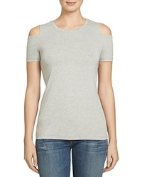 1.State Cold Shoulder Tee Swan Heather
