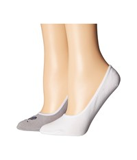 Cole Haan 2 Pair Grandpro Tennis No Show Sleet White Women's No Show Socks Shoes Multi
