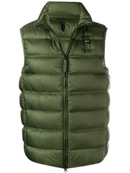 Blauer Zipped Padded Gilet Green