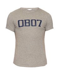 Orlebar Brown Logo Print Cotton T Shirt Grey