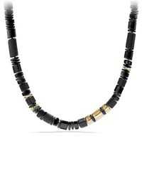 David Yurman Nevelson Black Onyx Rondelle Necklace 18