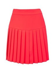 Mcq By Alexander Mcqueen Mcq Alexander Mcqueen Short Pleated Skirt Orange