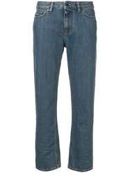 Diesel Black Gold Cropped Straight Leg Jeans Blue
