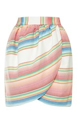 Harvey Faircloth M'o Exclusive Striped Cotton Tulip Skirt Multi
