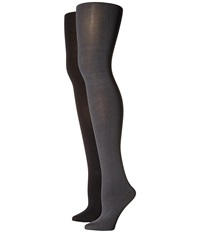 Hue Blackout Tights 2 Pack Cobblestone Black Hose Khaki