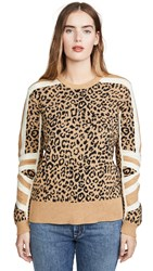 Current Elliott The Duvall Sweater Camel And Black