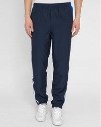 Lacoste Navy Joggers With Blue And White Stripe