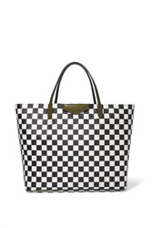 Givenchy Antigona Shopping Large Checked Textured Leather Tote Black