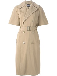 Nlst Short Sleeved Trench Coat Nude And Neutrals