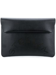 Stella Mccartney Logo Clutch Black