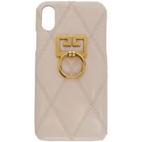 Givenchy Pink Quilted Gv3 Iphone X Case 680 Pale