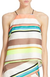 Women's Milly Fluorescent Stripe Camisole