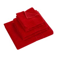 Versace Home Medusa Classic Bath Towels Set Of 5 Red