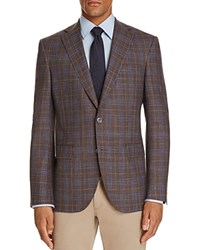 Jack Victor Plaid Classic Fit Sport Coat Brown