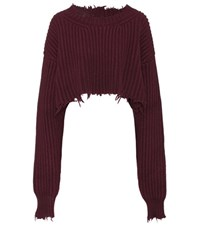 Unravel Wool And Cashmere Cropped Sweater Purple
