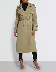 Missguided Double Breasted Woven Trench Coat Sand