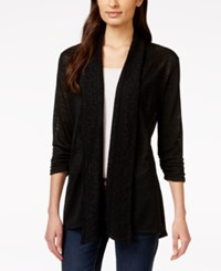 Styleandco. Style And Co. Petite Open Front Crochet Back Cardigan Only At Macy's