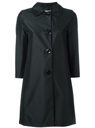 Herno Three Quarters Sleeve Coat Black