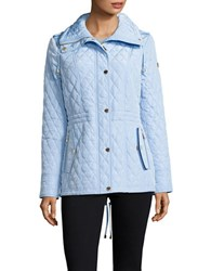 Michael Michael Kors Stand Collar Quilted Jacket Cloud
