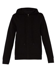 A.P.C. Moment Cotton Blend Hooded Sweatshirt Black