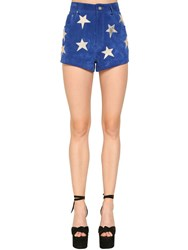 Saint Laurent High Waist Leather Suede Short W Stars Array 0X58d21f8