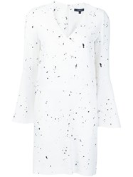 Derek Lam Splatter Print T Shirt Dress White