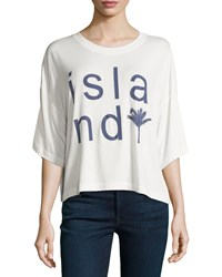 Bcbgeneration Island Dolman Sleeve Graphic Tee Whisper White