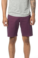Good Man Brand Men's Modern Fit Micro Pattern Chino Shorts Wine Dot