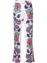 P.A.R.O.S.H. Paisley Dotted Track Pants White
