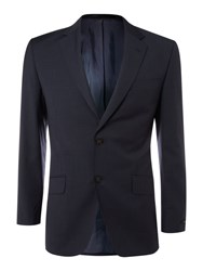 Linea Single Breasted Sharkskin Jacket Navy