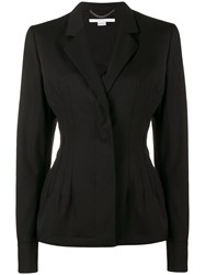 Stella Mccartney Fitted Blazer With Peplum Hem Black
