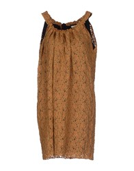Gold Case Sogno Dresses Short Dresses Women Brown