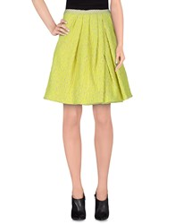 Monocrom Skirts Knee Length Skirts Women Acid Green