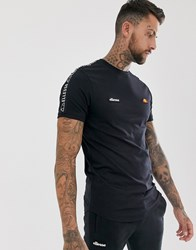 Ellesse Fede T Shirt With Taping In Black