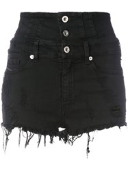 Diesel High Waisted Shorts Black