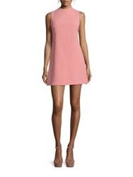 Alice Olivia Coley Mockneck A Line Dress Dusty Rose