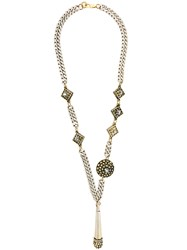 Jean Paul Gaultier Vintage Claire Deve Ethnic Necklace Metallic