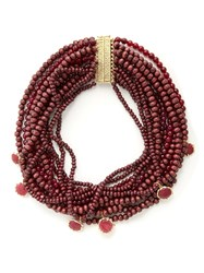 Rosantica By Michela Panero Inganno Multi Strand Necklace Burgundy