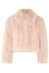 Adeam Cropped Feather Jacket Blush