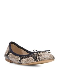 Sam Edelman Felicia Snakeskin Embossed Leather Ballet Flats Black White