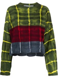 Raquel Allegra Long Sleeve Stripe Dye Boxy Sweater 60