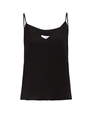 Raey Deep V Black Silk Cami