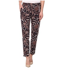 Adrianna Papell Printed Kate Fit Pants W Tabs Navy Ivory Women's Casual Pants Blue