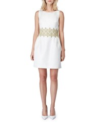 Erin Fetherston Gilded Lily Jacquard Dress Ivory Champagne