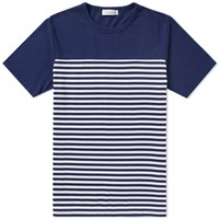 Nanamica Coolmax Jersey Shoulder Panel Tee Blue