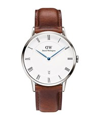 Daniel Wellington Dapper St. Mawes Leather Strap Watch Brown
