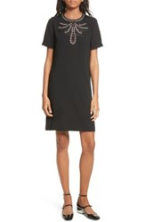The Kooples 'S Embellished Crepe Dress Black